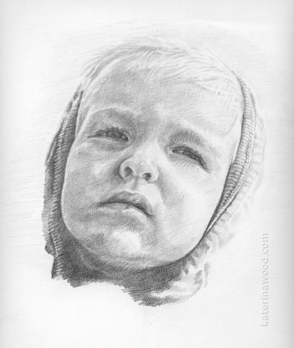 Egor, . Pencil drawing by Katerina Wood
