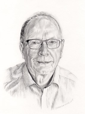 Frances's Dad, . Pencil drawing by Katerina Wood