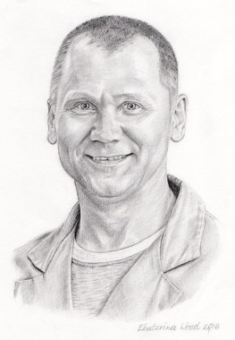 Svetlana's husband, . Pencil drawing by Katerina Wood